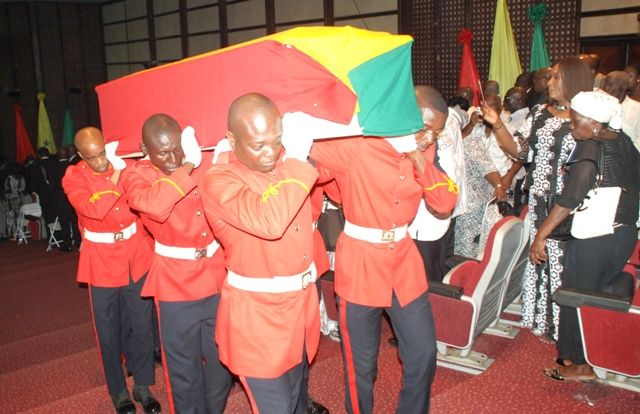 Prof. VCRAC Crabbe laid to rest