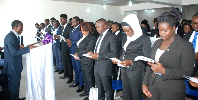 Students swearing Matriculation oath